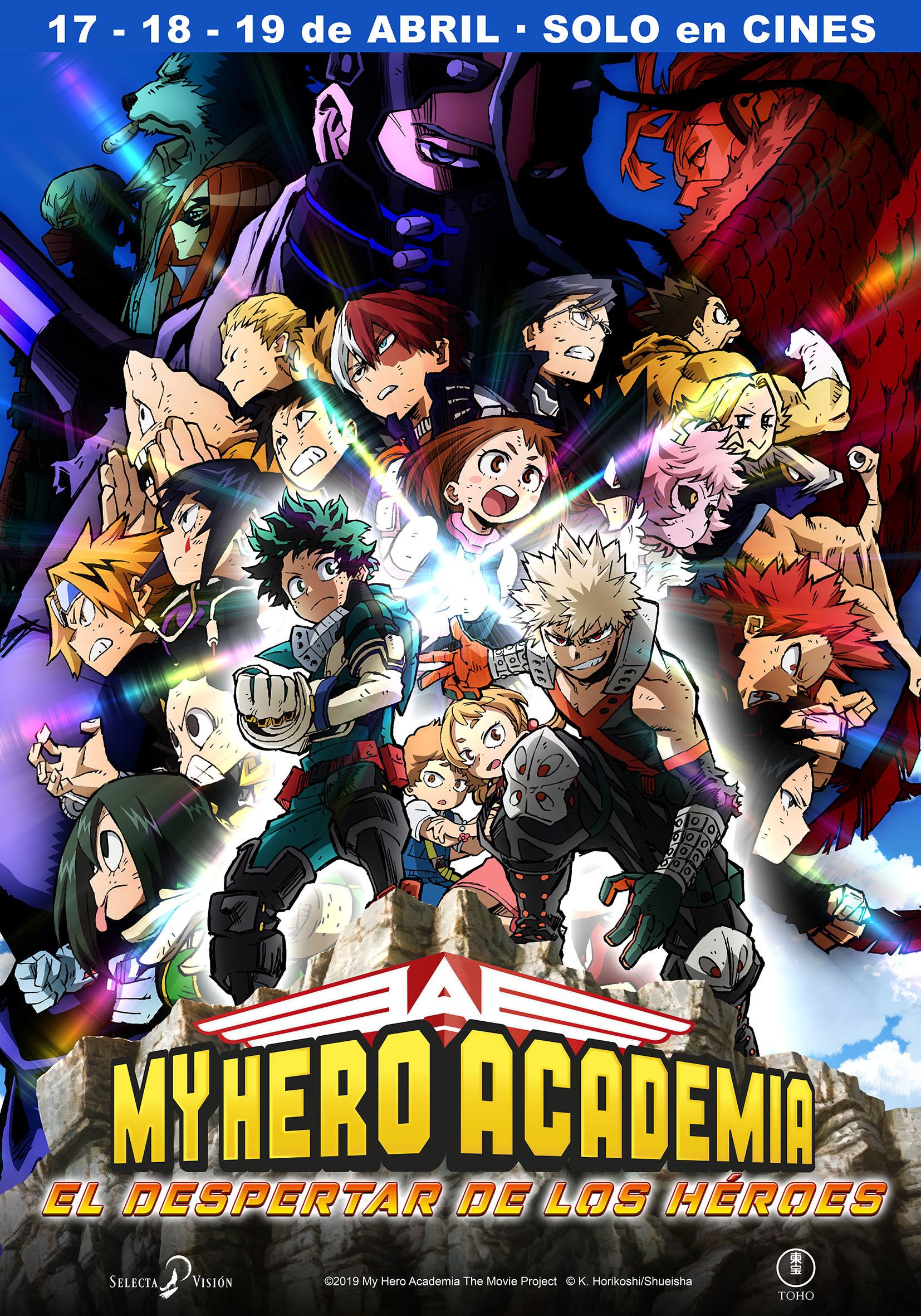 Cartel de My Hero Academia: El despertar de los héroes