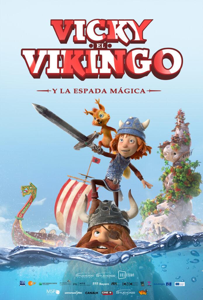 Cartel de Vicky el Vikingo y la espada mágica