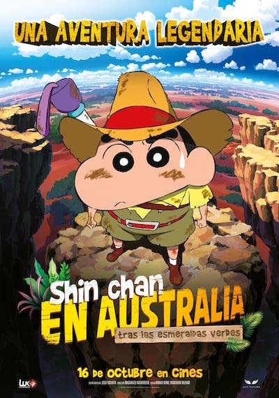 Cartel de Shin Chan en Australia. Tras las esmeraldas verdes