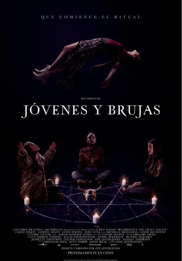 Cartel de Jóvenes y brujas