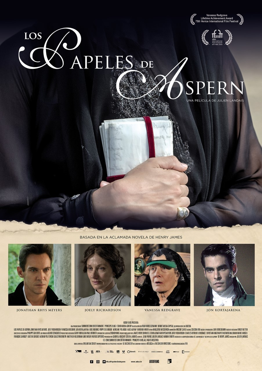 Cartel de Los papeles de Aspern