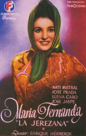 Cartel de María Fernanda, la Jerezana