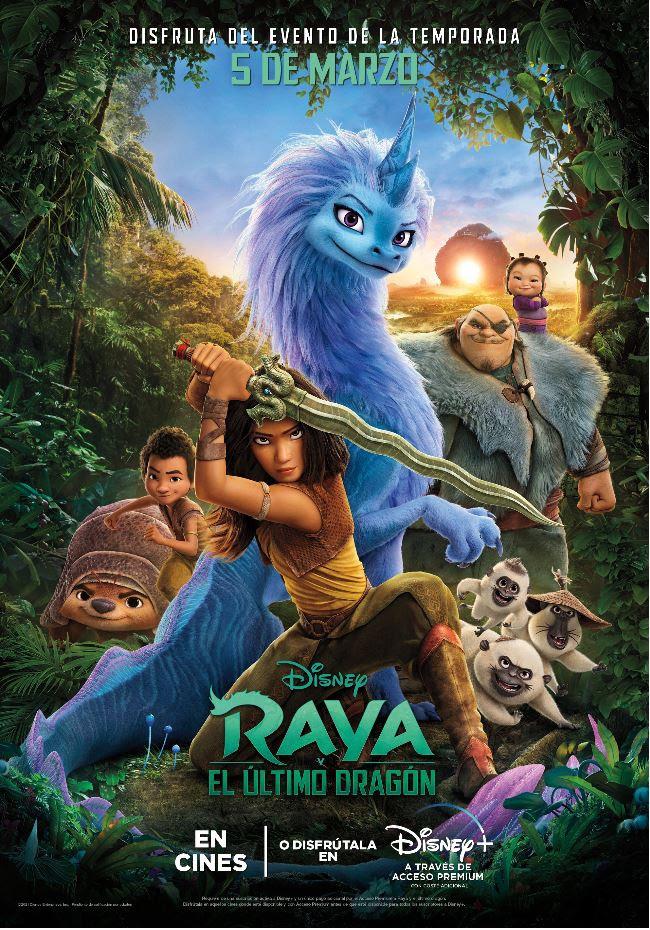 Cartel de Raya y el último dragón