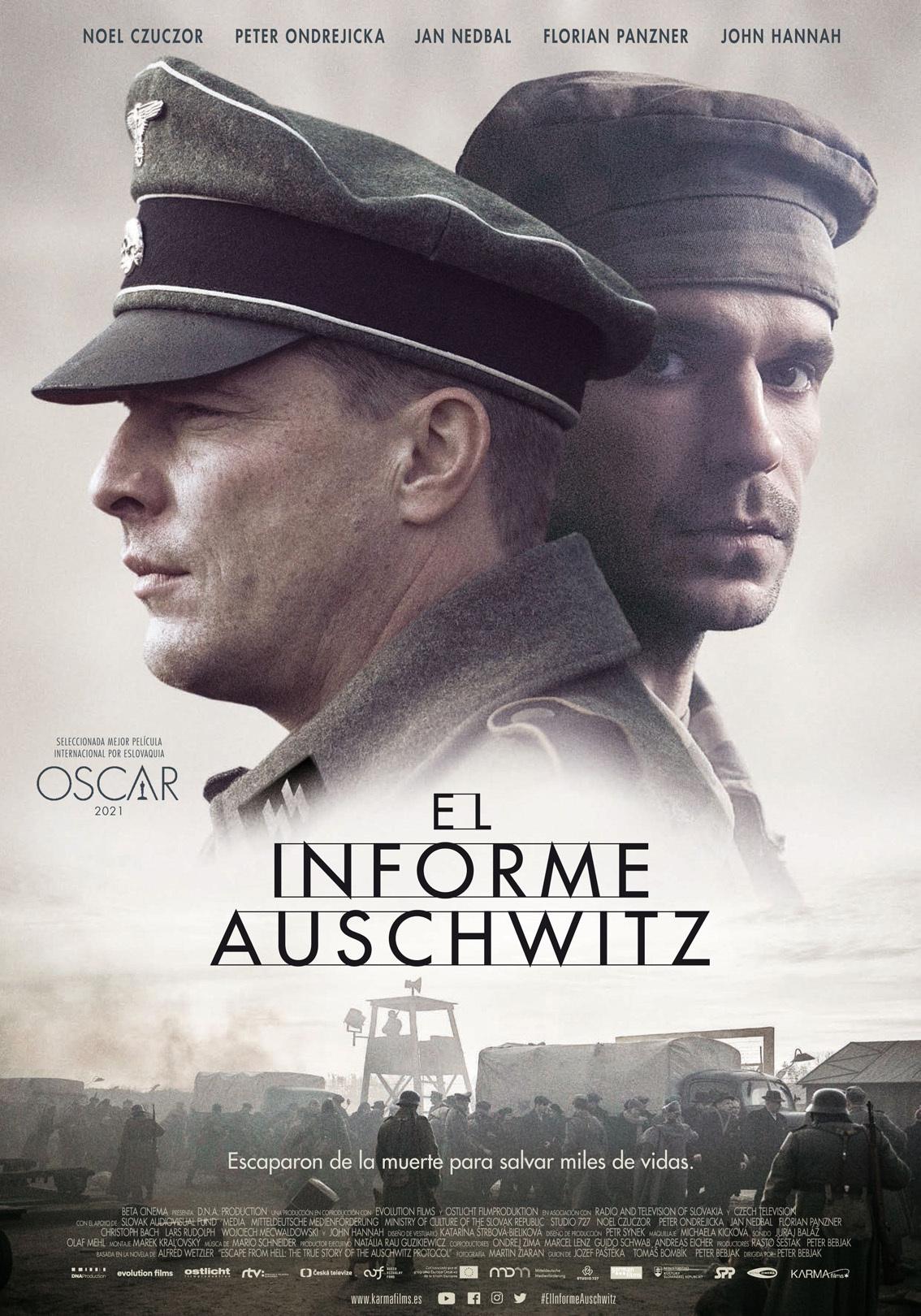 Cartel de El Informe Auschwitz