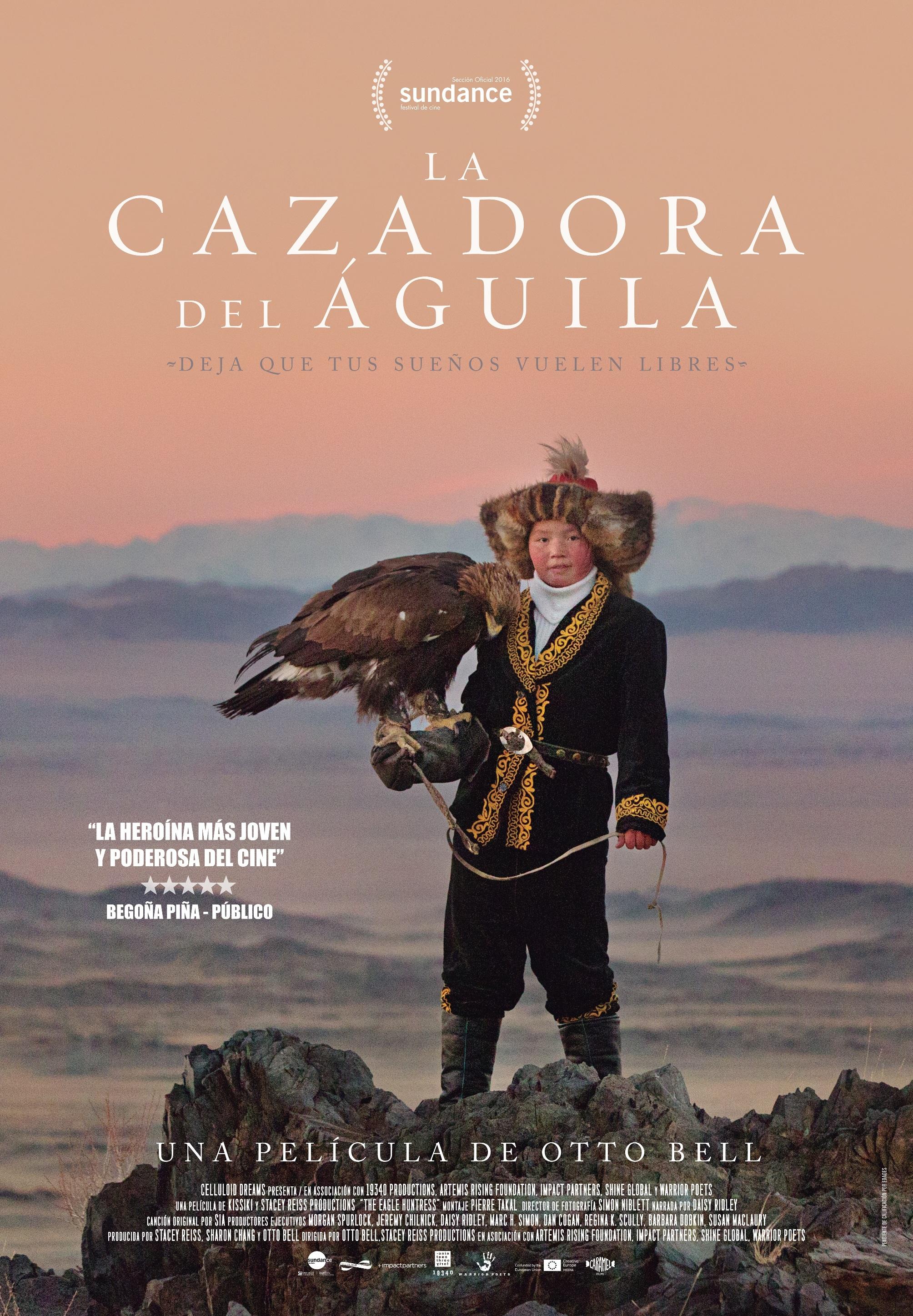 Cartel de La cazadora del águila