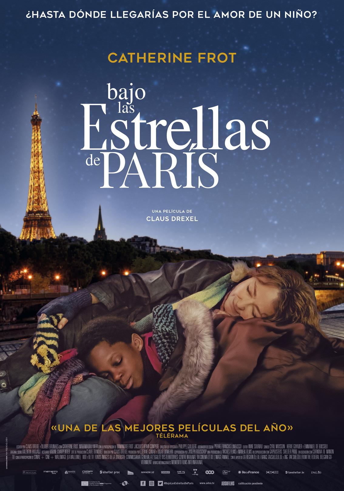 Cartel de Bajo las estrellas de París