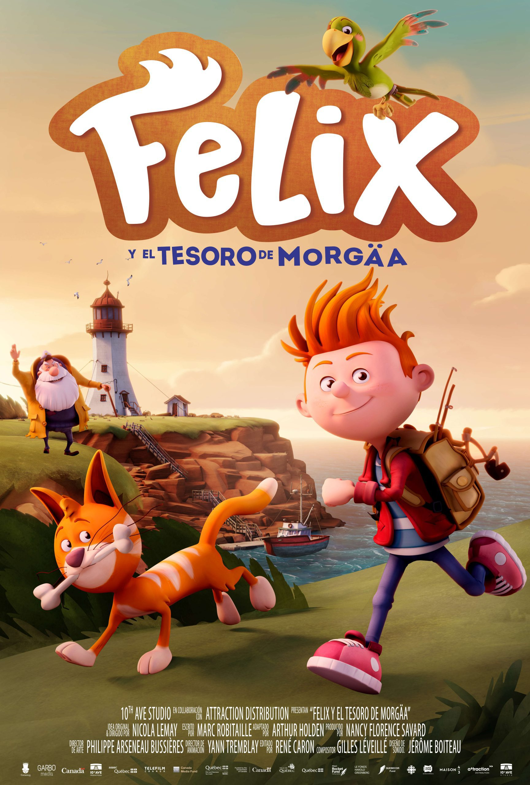 Cartel de Félix y el tesoro de Morgäa