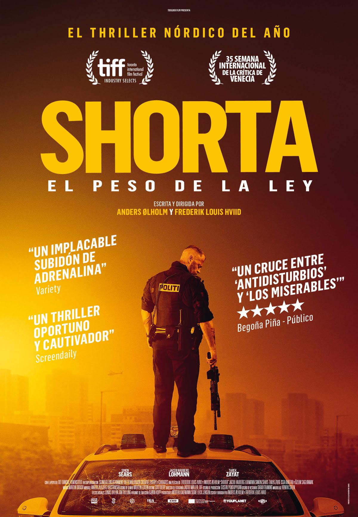 Cartel de Shorta. El peso de la ley
