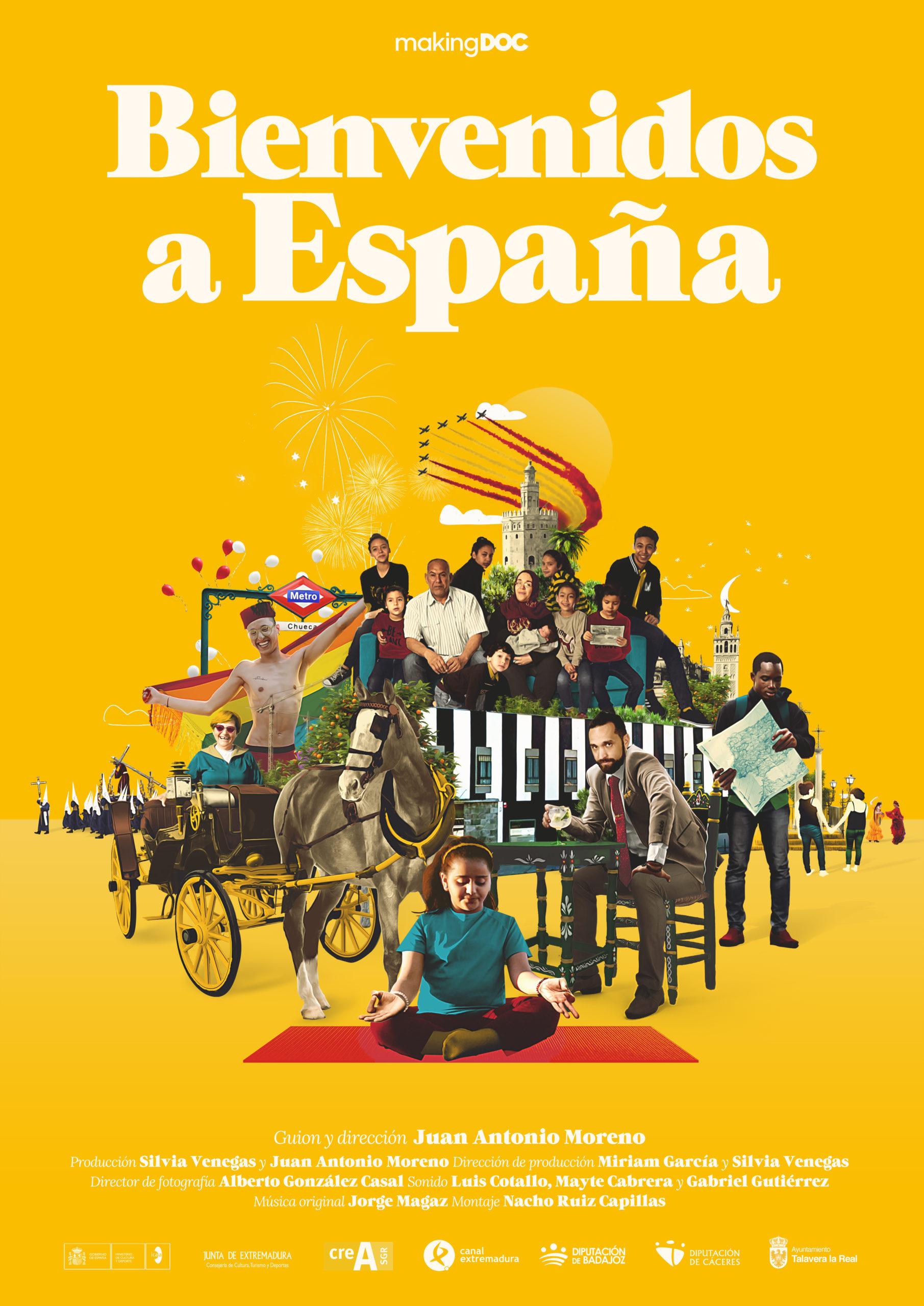 Cartel de Bienvenidos a España