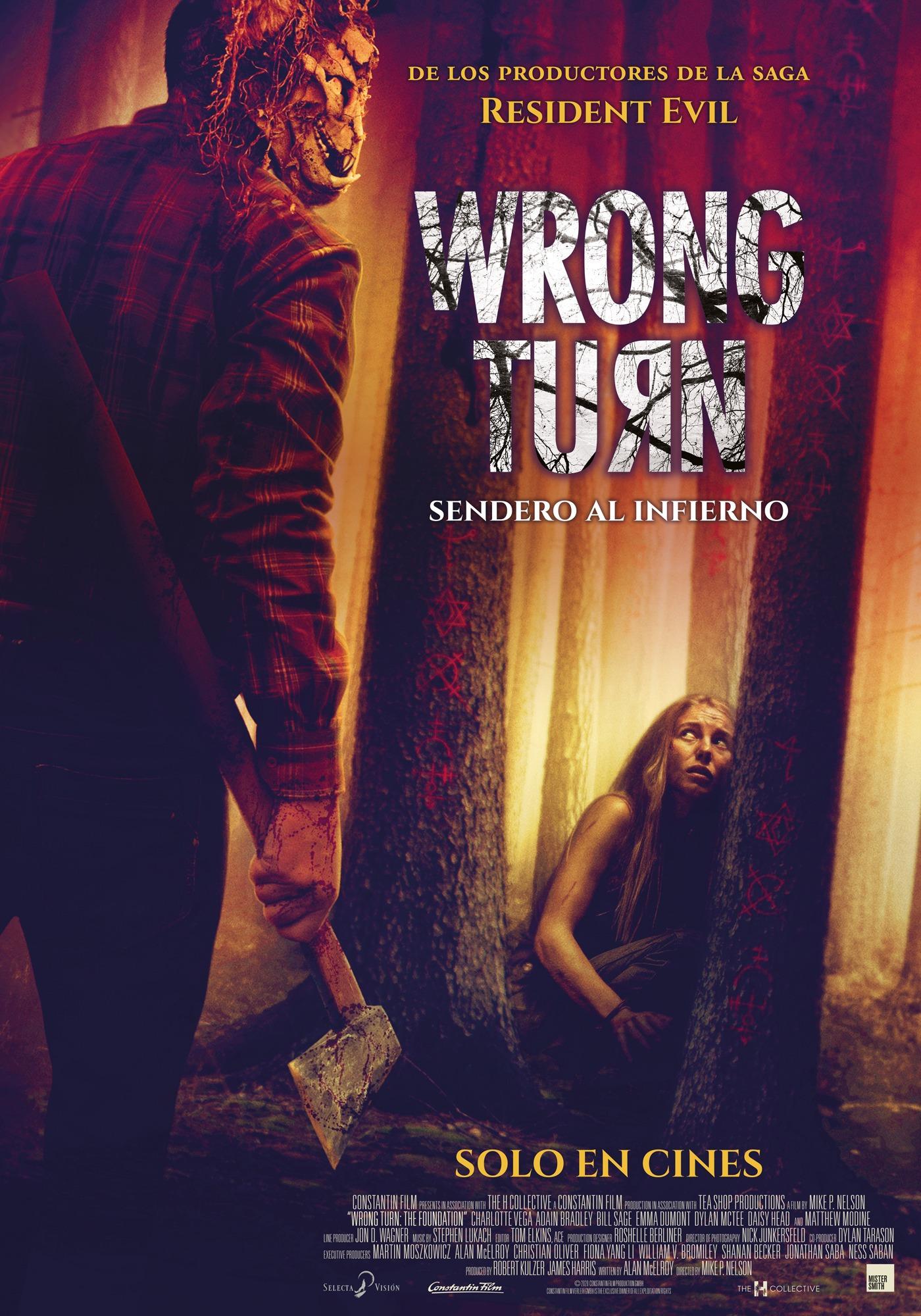 Cartel de Wrong Turn: Sendero al infierno
