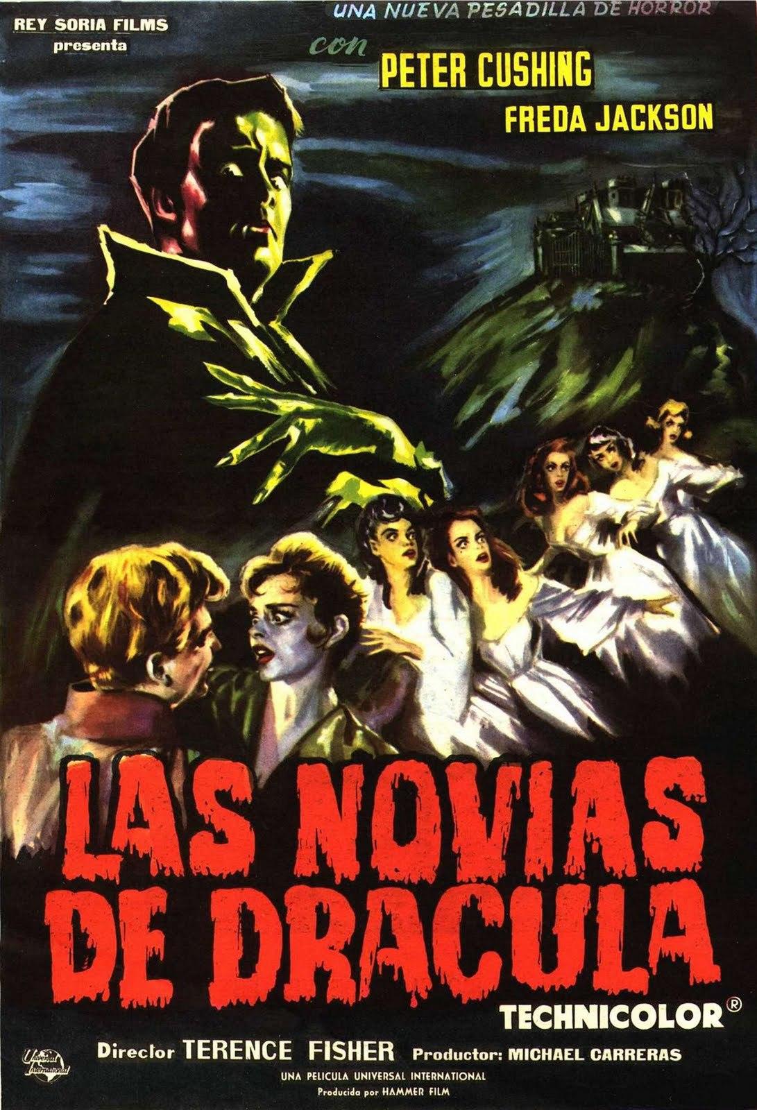 Cartel de Las novias de Drácula