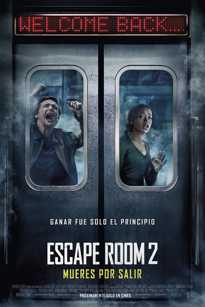 Cartel de Escape Room 2: Mueres por salir