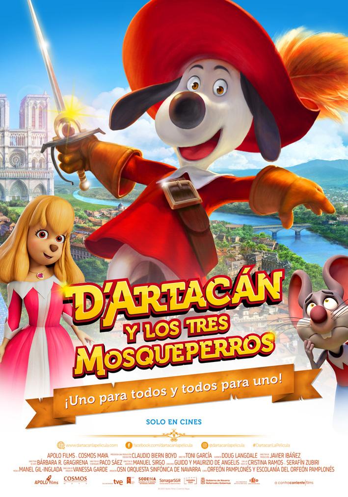 Cartel de D'Artacán y los tres Mosqueperros