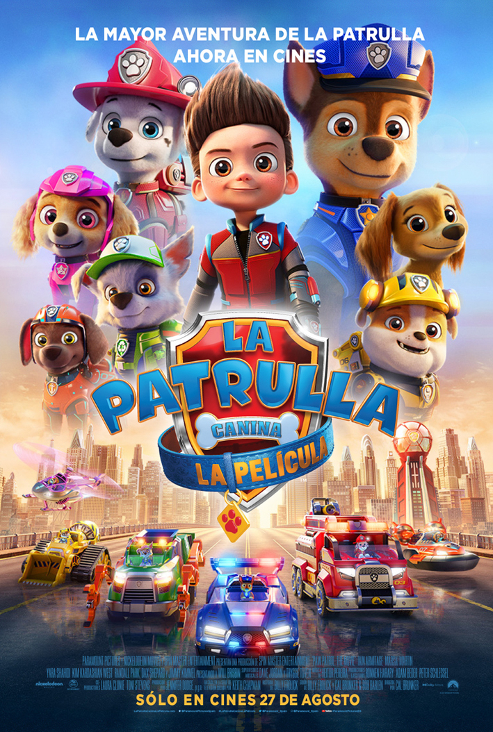 Cartel de La Patrulla Canina. La película